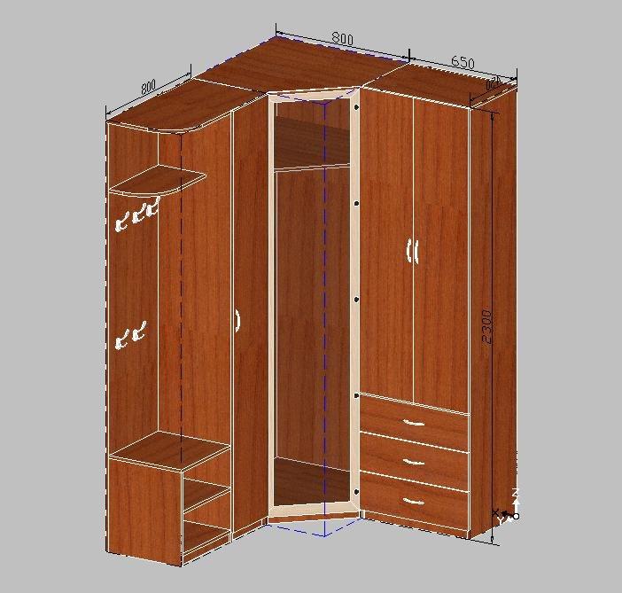 Хорошее решение: угловой шкаф в прихожую.